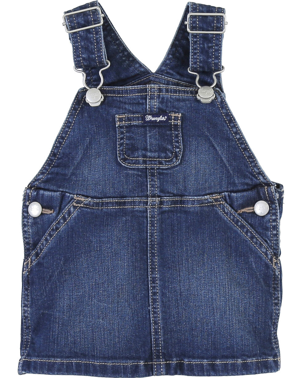 Wrangler Toddler Girls' Skirt Overalls, Indigo, hi-res