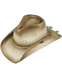 Peter Grimm Triangle Pattern Straw Cowboy Hat, , hi-res