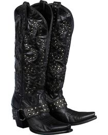 Lane Women's Stud Rocker Western Fashion Boots, , hi-res