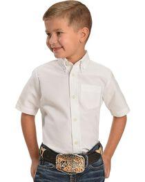 Dickies Boys' Oxford Short Sleeve Shirt - 4-8, White, hi-res