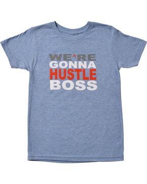 HOOey Boys' We're Gonna Hustle T-Shirt, Blue, hi-res