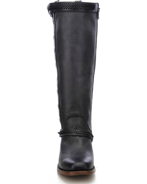 Corral Women's Burnished Lace-Up Tall Fashion Boots, Black, hi-res
