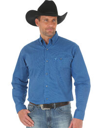 Wrangler 20X Men's Blue Advanced Comfort Competition Shirt - Big & Tall, , hi-res