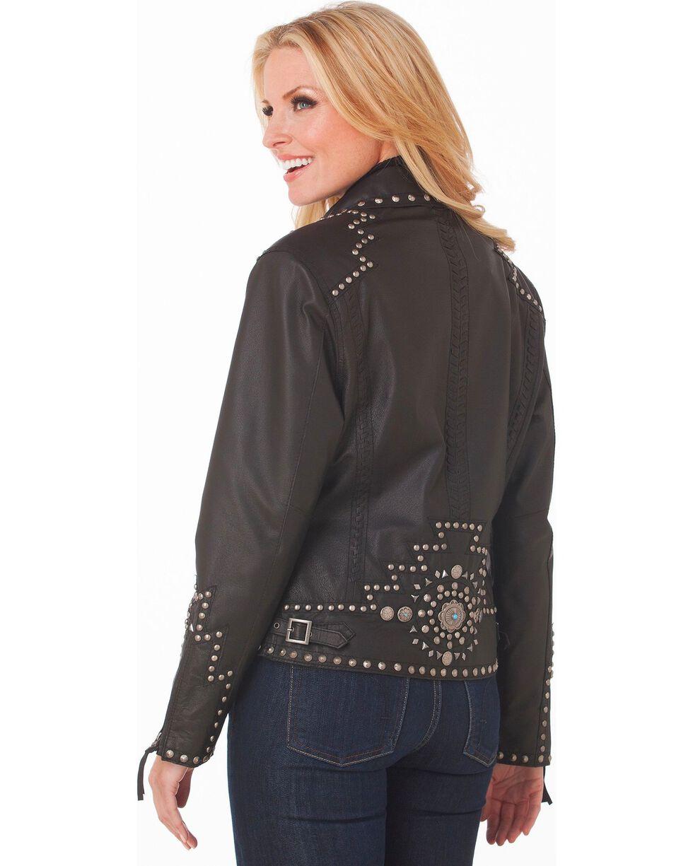 Cripple Creek Studded Leather Jacket, , hi-res