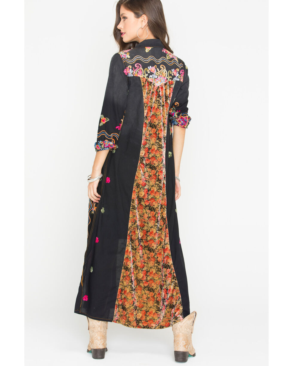 Aratta Women's Black Meadow Of Flowers Maxi Dress , Black, hi-res