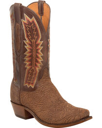 Lucchese Men's Harrison Chocolate Sueded Sheep Western Boots - Square Toe, , hi-res