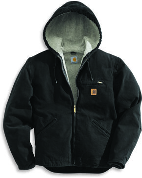 Carhartt Men's Sandstone Sierra Sherpa Lined Jacket, Black, hi-res