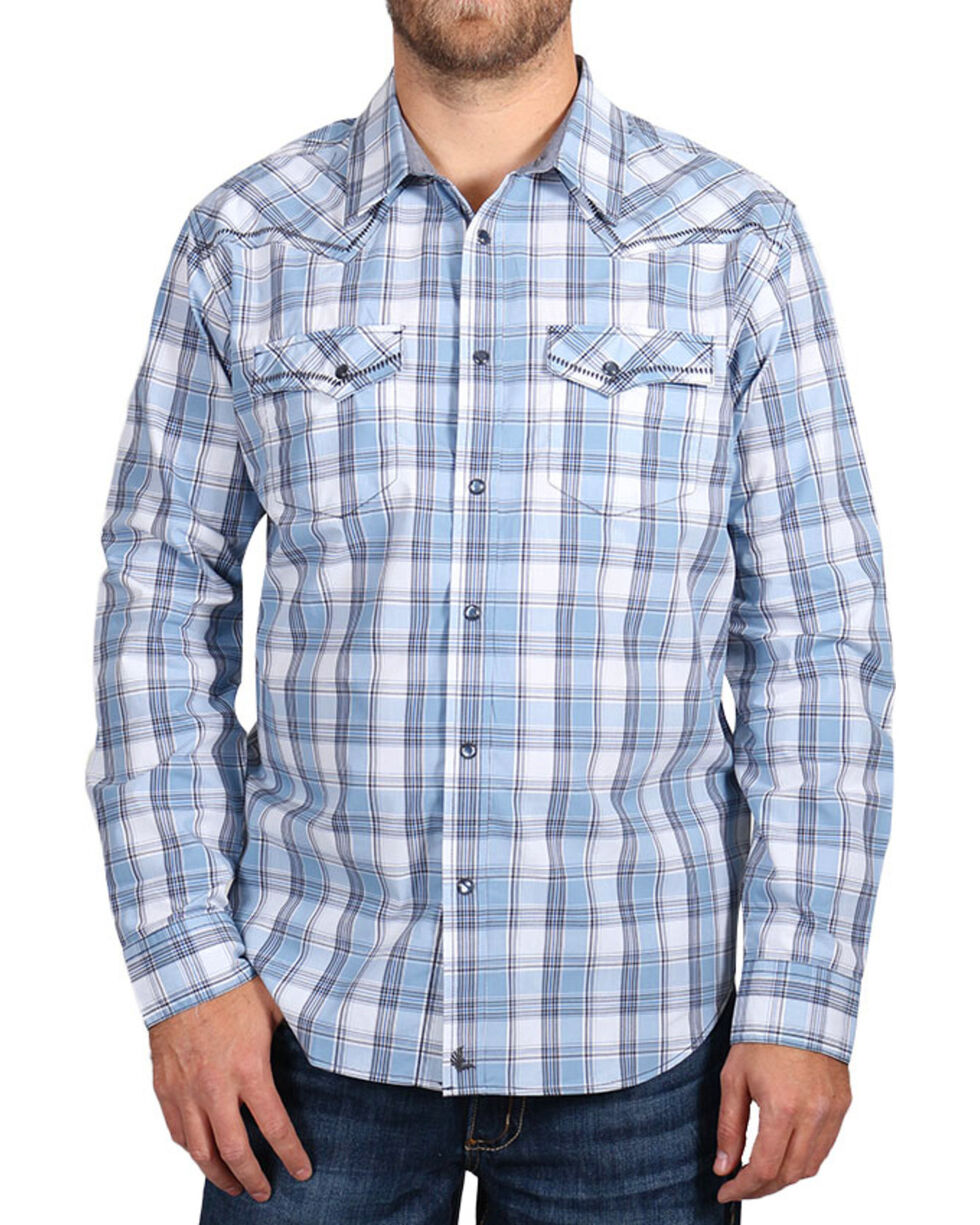 Cody James® Men's Light Plaid Long Sleeve Shirt, , hi-res