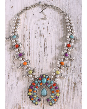 Shyanne Fiesta Squash Blossom Necklace, Multi, hi-res