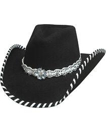 Bullhide Hats Women's Black See You Again Wool Felt Cowboy Hat, , hi-res