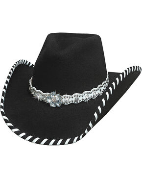 Bullhide Hats Women's Black See You Again Wool Felt Cowboy Hat, Black, hi-res