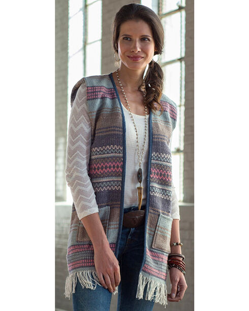 Ryan Michael Women's Saddle Blanket Vest, Multi, hi-res