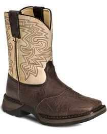 Durango Kid's Rebel Square Toe Western Boots, , hi-res