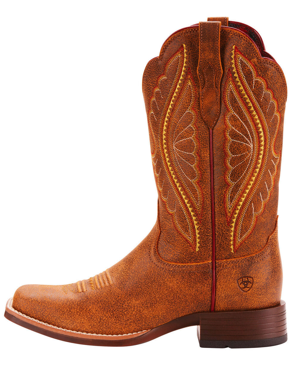 Ariat Women's Primetime Vintage Bomber Performance Cowgirl Boots - Square Toe, Leopard, hi-res