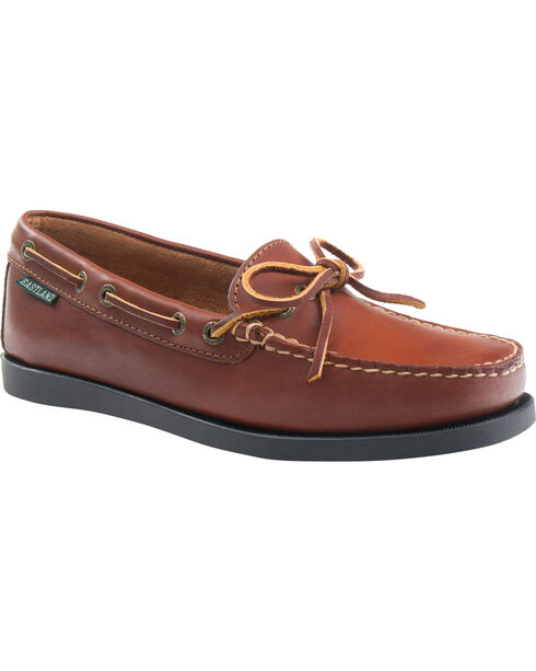 Eastland Women's Tan Yarmouth Camp Moc Slip-Ons, Tan, hi-res