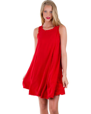 Others Follow Women's Red Laurel Canyon Tunic Dress, Red, hi-res