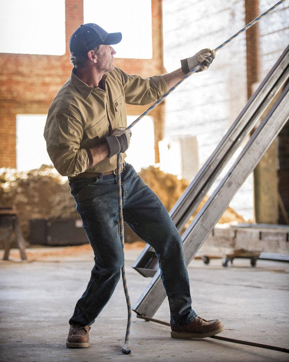 Wrangler Men's Tan RIGGS Workwear Advanced Comfort Shirt , Tan, hi-res