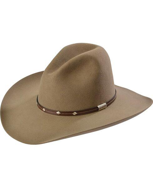 Stetson 4X Silver Mine Buffalo Felt Cowboy Hat, Stone, hi-res