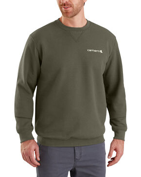 Carhartt Men's Midweight Graphic Crewneck Sweatshirt - Big , Moss Green, hi-res