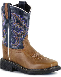 Cody James® Boys' Embroidered Western Boots, , hi-res