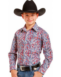 Rough Stock Boys' Ferintino Print Shirt , , hi-res