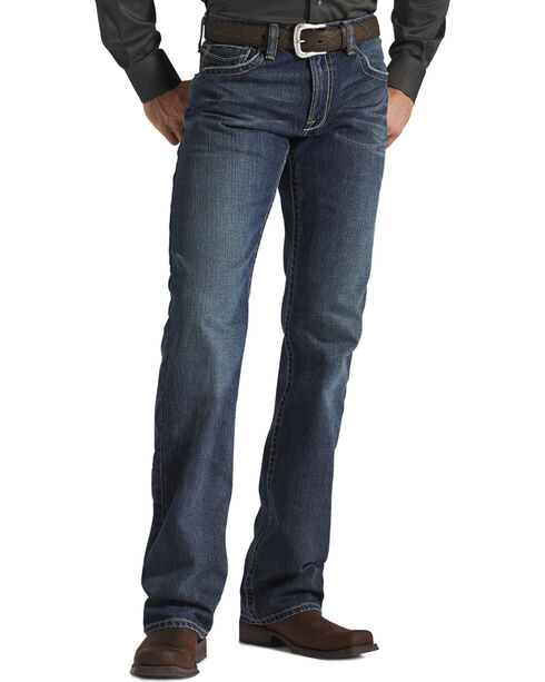 "Ariat Denim Jeans - M4 Deadrun Relaxed Fit - 38"" Inseam, Med Wash, hi-res"