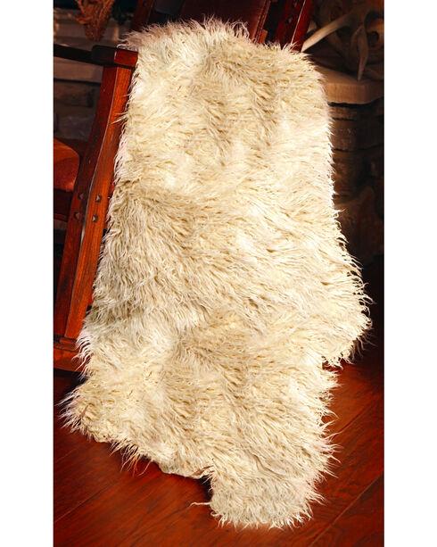 Carstens Faux Sheepskin Throw, White, hi-res