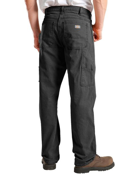 Dickies Men's Relaxed Fit Sanded Duck Carpenter Jeans, Black, hi-res