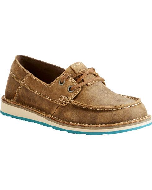 Ariat Women's Brown Cruiser Castaway Bomber Shoes , Brown, hi-res