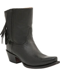 Lucchese Women's Flannery Tassel Shorty Boots, , hi-res