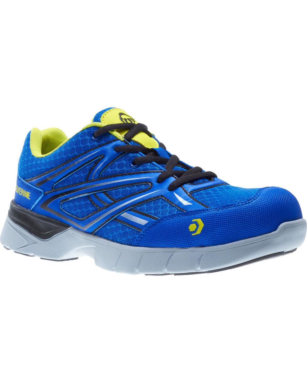 Wolverine Men's Jetstream Work Shoes - Composite Toe, Blue, hi-res