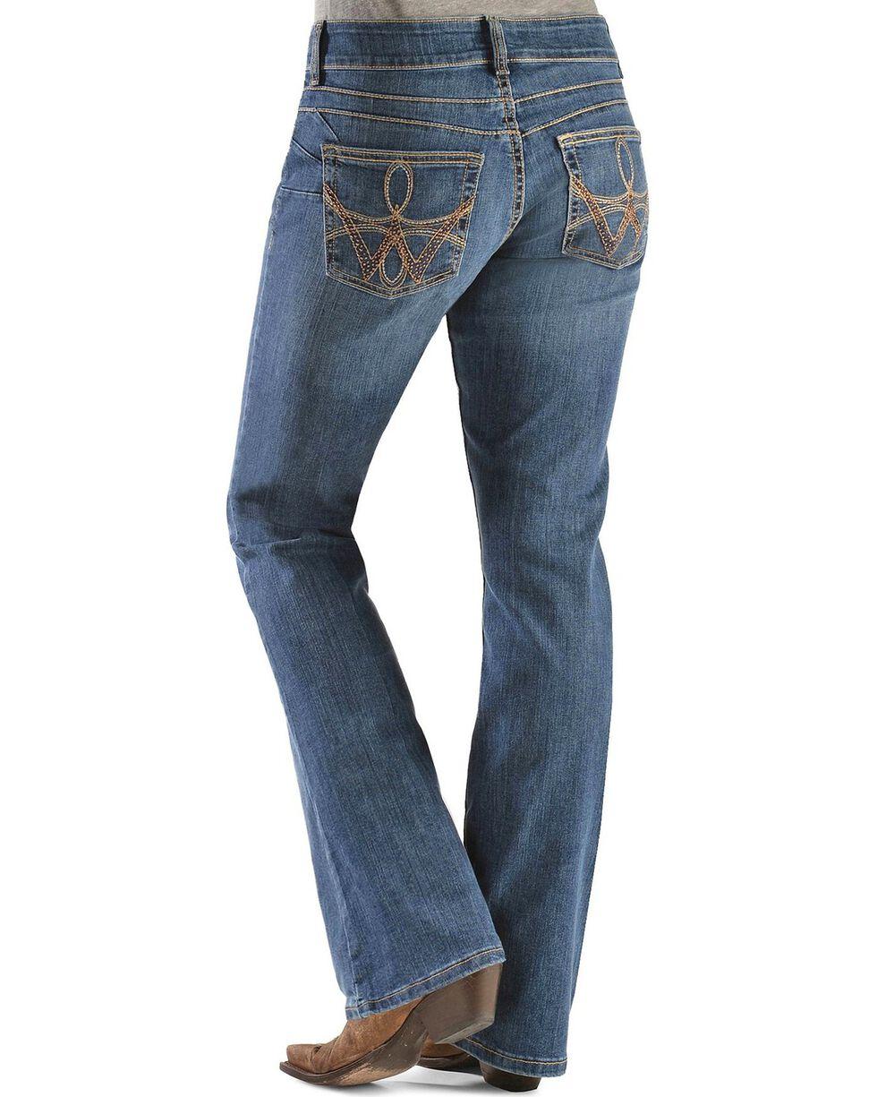 Wrangler Women's Premium Patch Mae Booty Up Jeans, Denim, hi-res