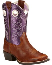 Ariat Childrens' Crossfire Western Boots, , hi-res