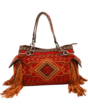 Blazin Roxx Indian Blanket Satchel Bag, Multi, hi-res