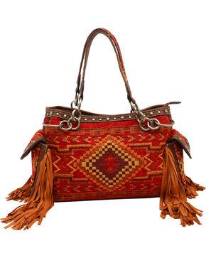 Blazin Roxx Indian Blanket Satchel Bag, Multi, hi-res