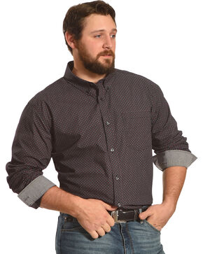 Cody James Men's Rigging Long Sleeve Shirt - Big & Tall, Black, hi-res