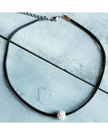 Jewelry Junkie Women's Floating Rhinestone Choker , , hi-res