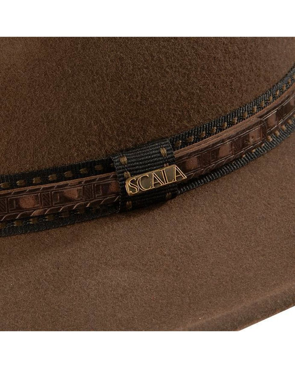 Scala Crushable Wool Outback Hat, Khaki, hi-res