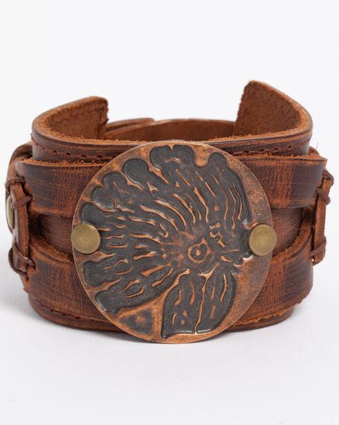 Jewelry Junkie Women's Copper Indian Headdress Cuff , Rust Copper, hi-res