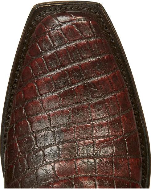 Lucchese Brick Giant Gator Van Cowboy Boots - Square Toe, Dark Brown, hi-res