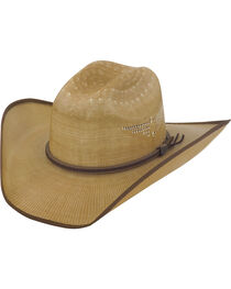 Justin Bent Rail Tan Fenix Straw Hat, , hi-res