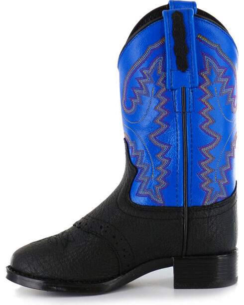 Cody James® Kid's Saddle Vamp Western Boots, Black, hi-res