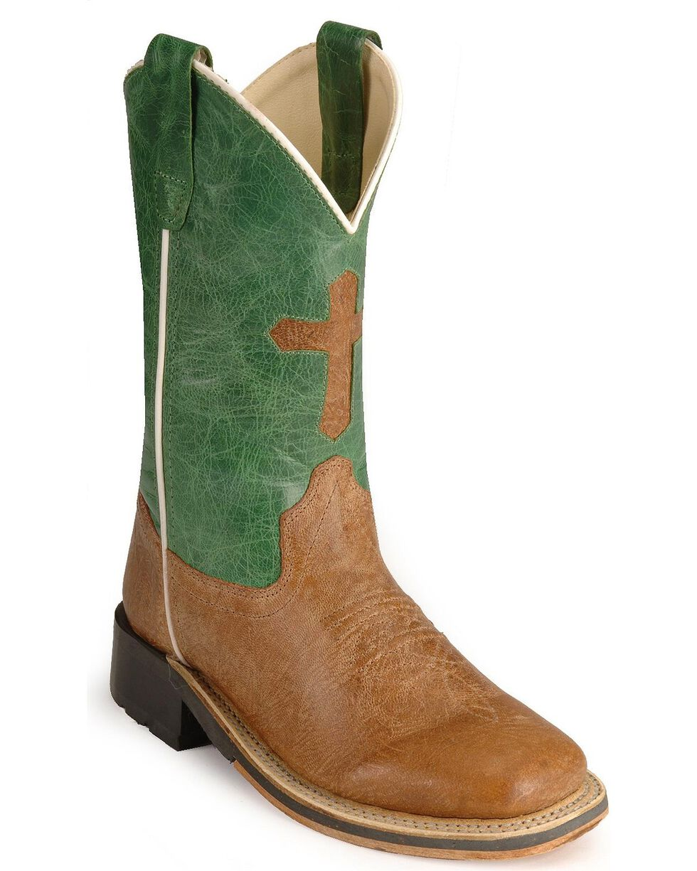 Jama Youth's Broad Square Toe Boots, Tan, hi-res