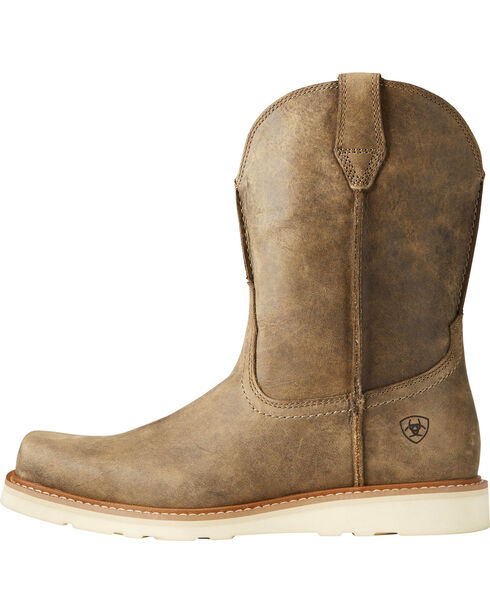 Ariat Men's Rambler Recon Light Brown Work Boots - Square Toe, Lt Brown, hi-res