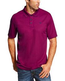 Ariat Men's Violet Short Sleeve Tek Polo , , hi-res