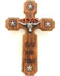 God Bless Texas Wooden Cross Wall Art, , hi-res