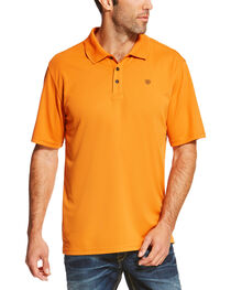 Ariat Men's Solid Short Sleeve Logo Polo, , hi-res