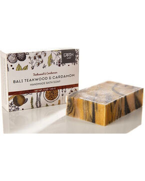 Gift Craft Bali Teakwood and Cardamom Nearly Natural Soap, No Color, hi-res