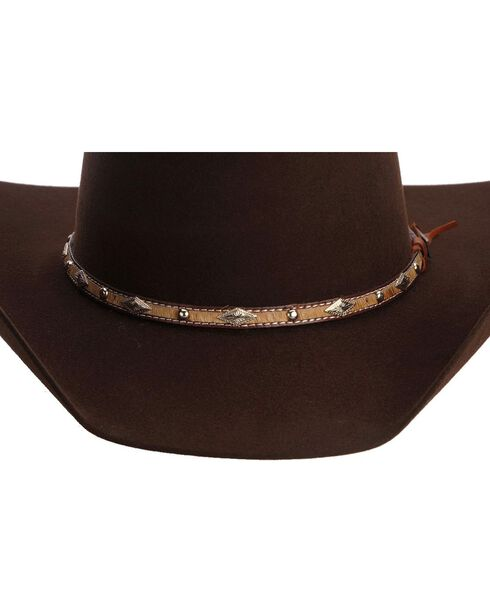 Larry Mahan 5X Brindle Brown Fur Felt Cowboy Hat, Brown, hi-res