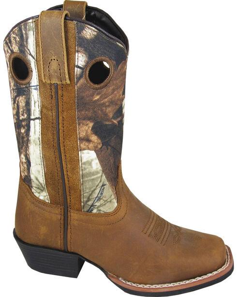 Smoky Mountain Boys' Mesa Camo Western Boots - Square Toe, Brown, hi-res